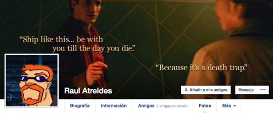Captura del facebook de Raul Atreides