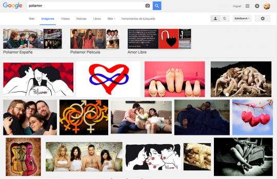 Captura de los resultados que aparecen en Google Imágenes al buscar