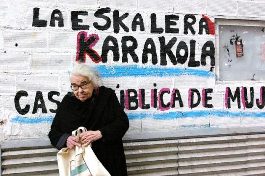 Kate Millet, en la Eskalera https://www.flickr.com/photos/gaelx/4474601104/