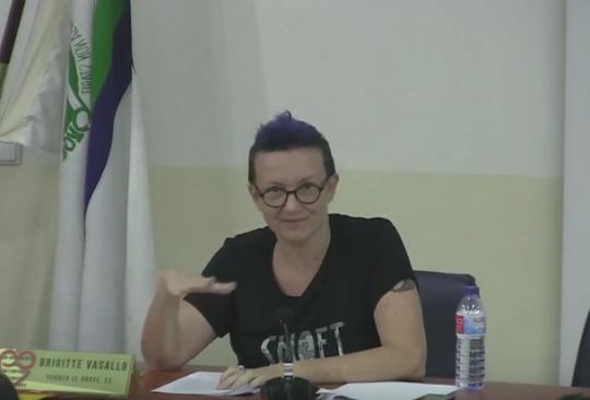 Captura del video de su charla