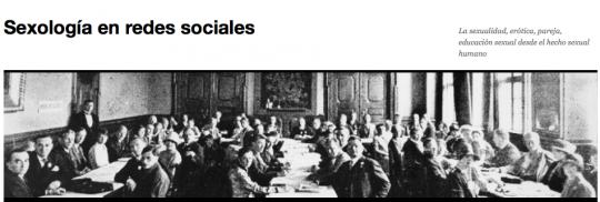 """Cabecera del blog """"Sexología en las redes sociales"""""""