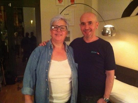 Janet Hardy y Miguel Vagalume, 2012, Barcelona. Fotografía hecha por Maggie Tapert.