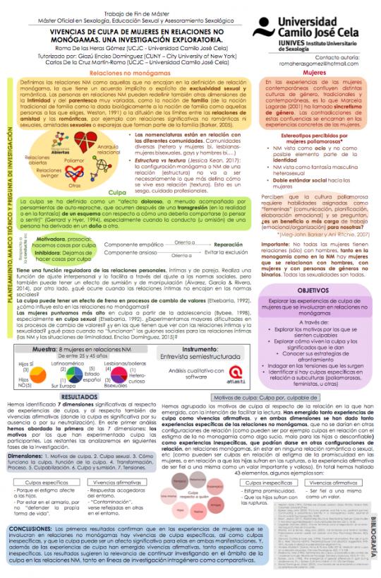 Poster del TFM de Roma de las Heras,
